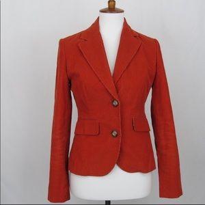 Vineyard Vines orange rust corduroy jacket blazer